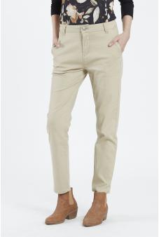 Pantalon liso, pierna recta