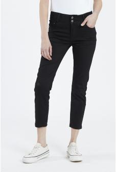 Pantalon liso, skinny-Negro-42