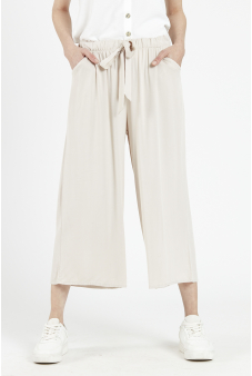 Pantalón pierna ancha con amarra