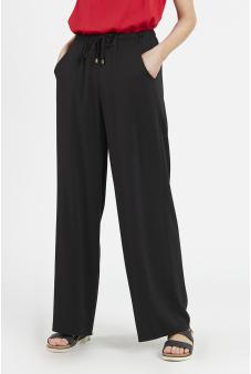 Pantalón recto con amarra
