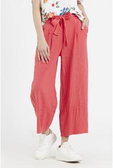 Pantalón lino tiro alto