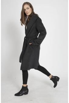 Abrigo gris calce regular