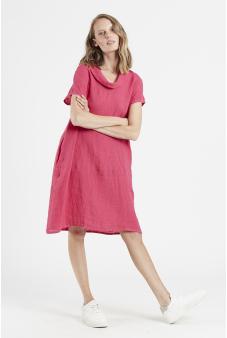 Vestido lino corto