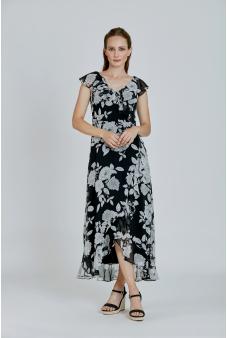 Vestido Estampado-Negro-36