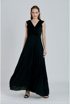 Vestido Liso-Negro-S