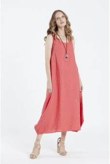 Vestido Lino liso