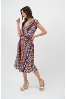Vestido Estampado-Multicolor-M