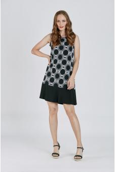 Vestido Estampado-Negro-XL
