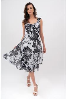 Vestido Estampado-Negro-42