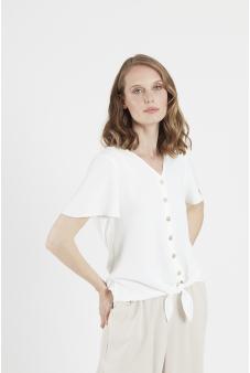 Blusa escote en V