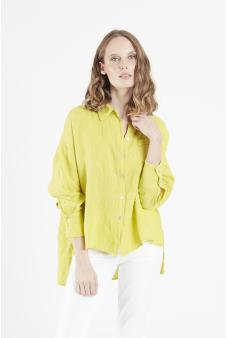 Blusa camisera lino