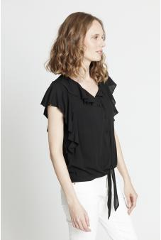 Blusa con amarra-Negro-46