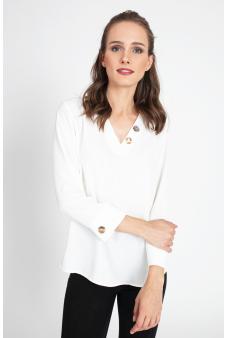 Blusa detalle boton-Blanco-46