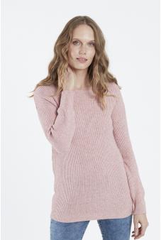 Sweater, escote redondo, liso
