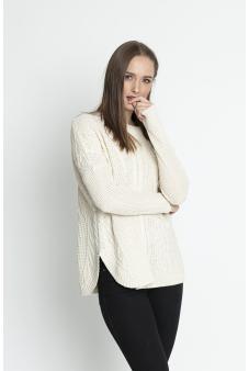 Sweater  trenzado color arena